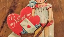 1920s valentine wheel barrow