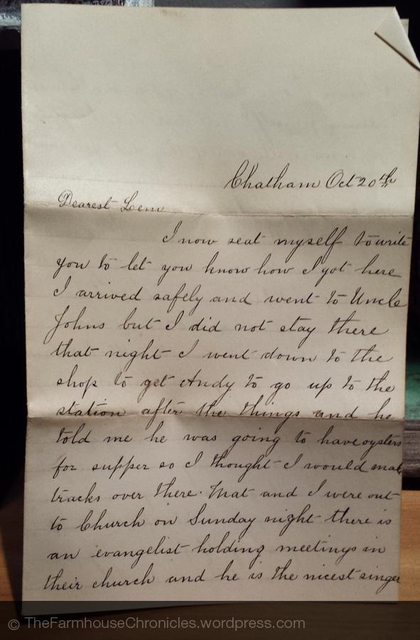 1885 letter