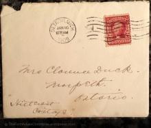 1909 envelope from Detroit